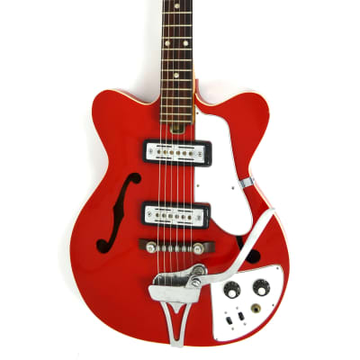Jedson Semi-Hollow Electric Red Burst MIJ for sale