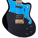 D'Angelico  Deluxe Bedford Black with Blue Pickguard w/Case