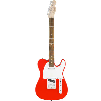 Squier Affinity Series Telecaster Electric Guitar Rosewood - Race Red for sale