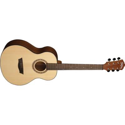 Washburn AGM5K Apprentice G-Mini Grand Auditorium Travel Acoustic Guitar Natural