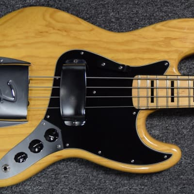 Fender '75 American Reissue Jazz Bass, USED/Excellent *Natural Ash (No Longer Available!) with Maple for sale
