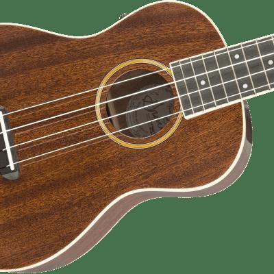 Grace Vanderwaal Signature Uke Walnut Fingerboard Natural Finish Fender Gig Bag Authorized Dealer!
