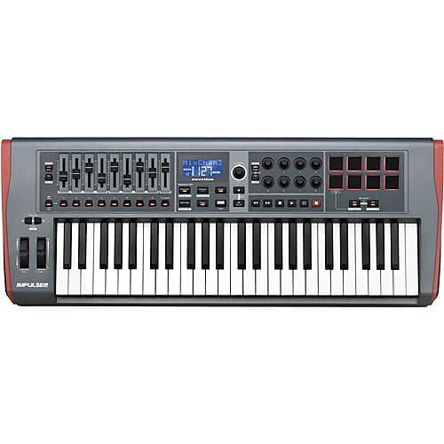 novation impulse 49 usb midi controller keyboard with automap reverb. Black Bedroom Furniture Sets. Home Design Ideas