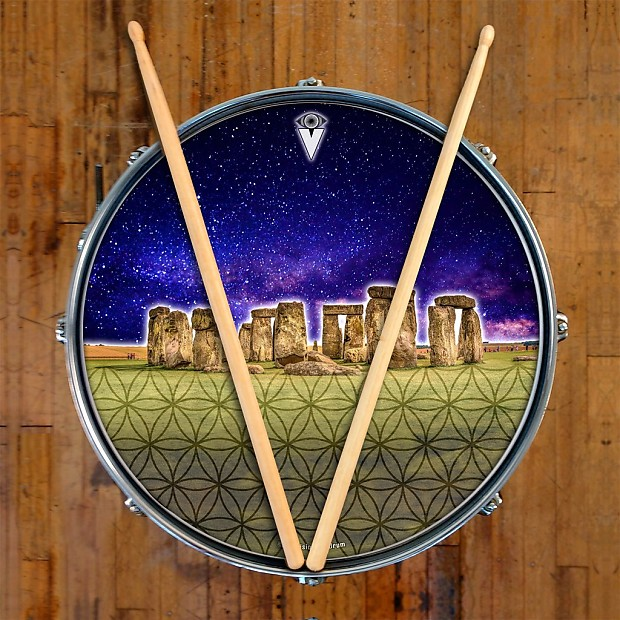 stonehenge graphic drum skin for bass snare and tom drums reverb. Black Bedroom Furniture Sets. Home Design Ideas