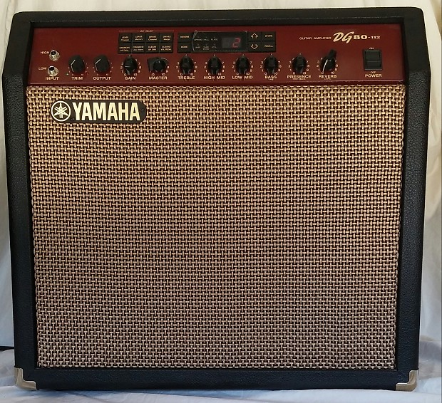 yamaha dg80 112 guitar combo amp excellent condition reverb. Black Bedroom Furniture Sets. Home Design Ideas