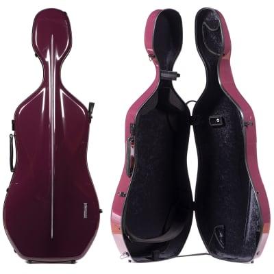 Gewa Gewa 341.280 Air 3.9 Purple 4/4 Cello Case with Black interior