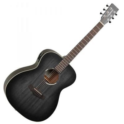 Tanglewood TWBB-OE Blackbird Folk Electro Acoustic Guitar - Smokestack Black Satin for sale