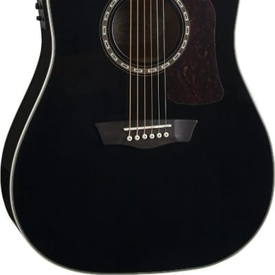 Washburn HD10SCEB Heritage Dreadnought Cutaway Acoustic-Electric Guitar - Black for sale