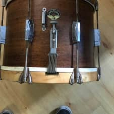 Leedy and Ludwig L-47973 1952  Marching Snare Drum Mahogany