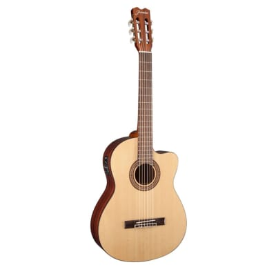 Jasmine JC25CE-NAT J-Series Classical Cutaway Spruce Top Nato Neck 6-String Acoustic-Electric Guitar for sale