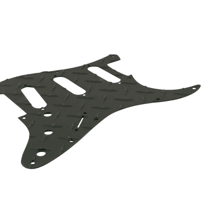 Fender Diamond Plate Aluminum 11 hole pickguard fits USA  Strat or MIM Black ST-DPB