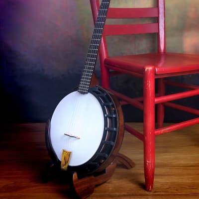 Nechville Midnight Phantom 24 Fret 5 String Mahogany Resonator Banjo for sale