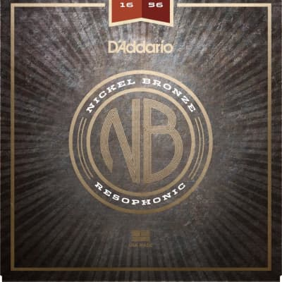 D'Addario NB1656 Nickel Bronze Acoustic Guitar Strings, Resophonic, 16-56