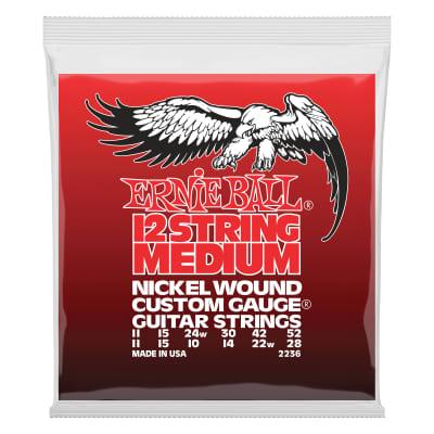 Ernie Ball Medium 12-String Nickel Wound Electric Guitar Strings - 11-52 Gauge