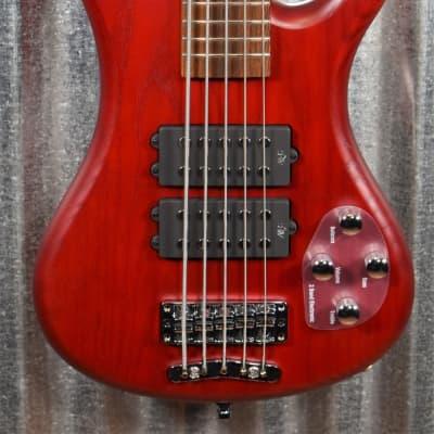 Warwick Rockbass Corvette $$ Double Buck Burgundy 5 String Bass & Bag #0618
