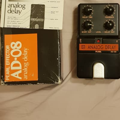 Pearl AD-08 Analog Delay Vintage 80's Mint With Box+Manual for sale