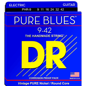 DR PHR-9 Pure Blues Lite Electric Guitar Strings (9-42)