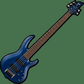 ESP LTD B-205FM 5-String Flamed Maple Top Bass See-Thru Blue 2018