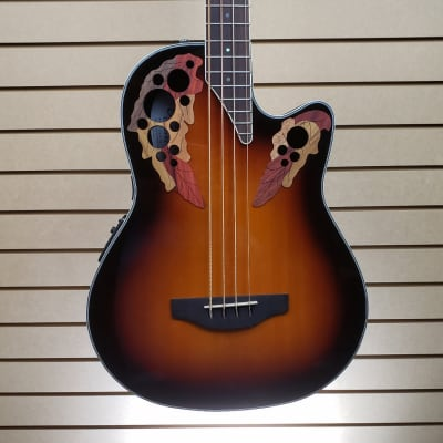 Ovation Celebrity Elite Exotic 4-String Bass Mid Depth - Cognac Burst/Natural On Exotic w/FREE Ship for sale