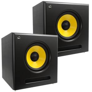 """Seismic Audio Spectra-10SUB-PAIR Active 1x10"""" 100w Studio Monitor Subwoofer Speakers (Pair)"""