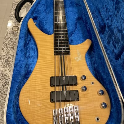 """Vigier """"Passion"""" Natural Finish Five String Bass for sale"""