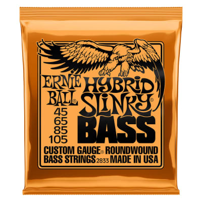 Ernie Ball Hybrid Slinky Nickel Wound Electric Bass Strings 45-105 Gauge