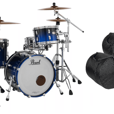 Pearl Reference 3pc Shell Pack with Free Gig Bags Ultra Blue Fade 20x14 12x8 14x14 Free Ship to USA