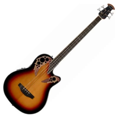 Ovation CEB44-1N Celebrity Elite Acoustic Electric Bass MID, New England Burst for sale