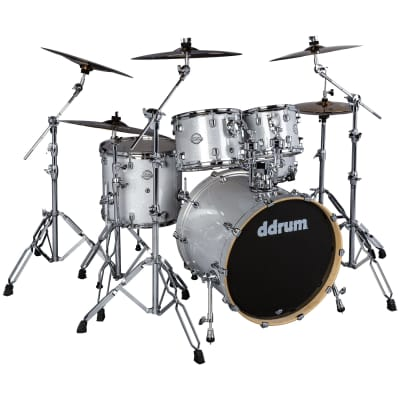 ddrum Dominion Birch 5pc Shell Pack Silver Sparkle Wrap