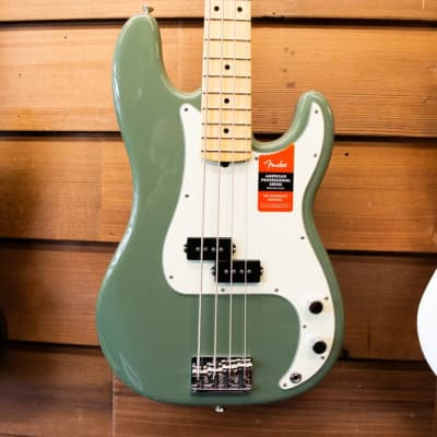 Fender American Professional Precision Bass - Antique Olive with Maple Fingerboard (Consignment)