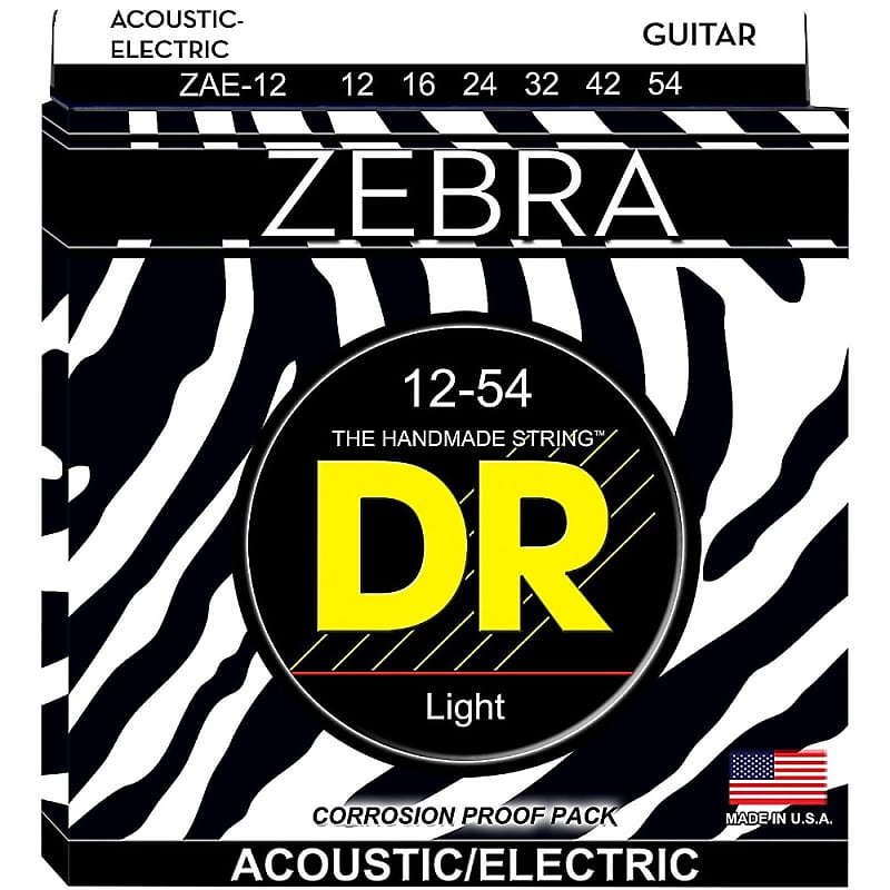 dr zebra acoustic electric guitar strings 12 39 s light reverb. Black Bedroom Furniture Sets. Home Design Ideas