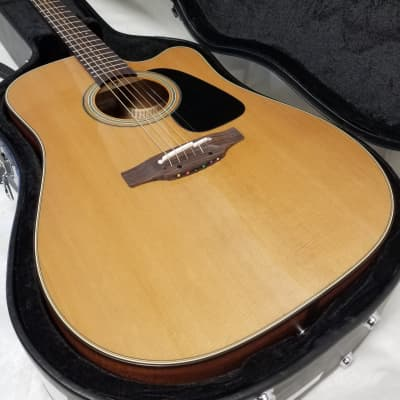 Takamine P1DC Pro-Series Solid Cedar Top Cutaway Acoustic./ Elec. Dreadnought Guitar, CT-4BII Electronics W/C for sale
