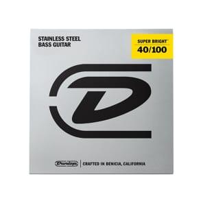 Dunlop DBSBS40100 Super Bright Stainless Steel Bass Strings - Light (40-100)