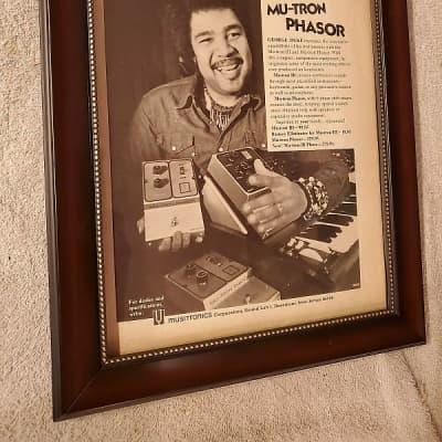 1974 Musitronics Corp Promotional Ad Framed Mutron III & Mutron Phasor George Duke Original