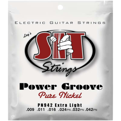 SIT Strings PN942 Extra Light Power Groove Pure Nickel .009-.042