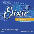 Elixir 12102 Nanoweb Medium Electric Guitar Strings (11-49) image