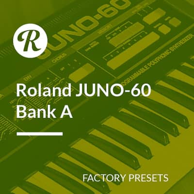 Roland JUNO-60 Factory Presets - Bank A