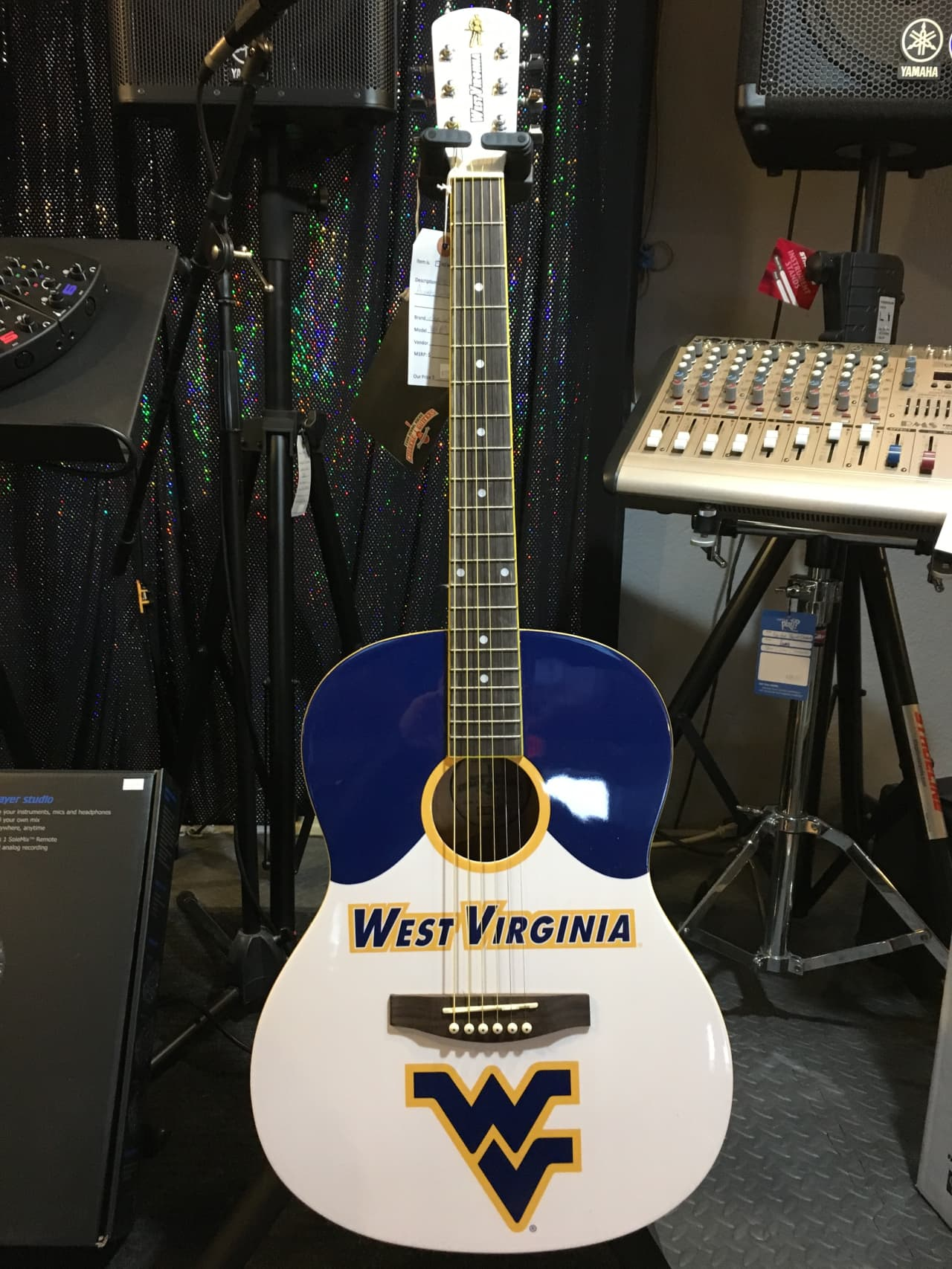 West Virginia University Mountaineers Wvu Acoustic Guitar