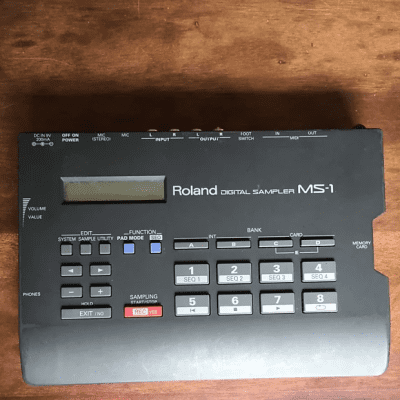 Roland MS-1 Digital Sampler Black 1990s
