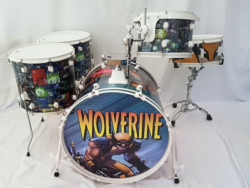 custom wrapped wolverine x men comic ddrum d2 drum kit reverb. Black Bedroom Furniture Sets. Home Design Ideas