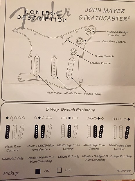 john mayer strat wiring diagram fender john mayer loaded pickguard big dipper pickups reverb  loaded pickguard big dipper pickups