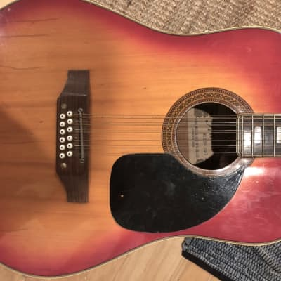 Kawai  12 string guitar (1970's) 1970's Orange/ Red for sale
