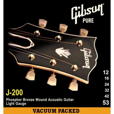 Gibson Gear J-200 Premium Phosphor Bronze Acoustic, Light, 12-53 for sale