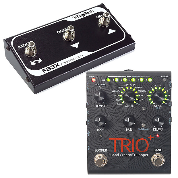 digitech trio plus band creator and looper guitar effects reverb. Black Bedroom Furniture Sets. Home Design Ideas