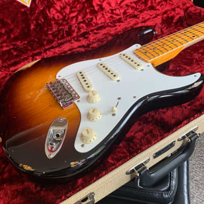 Fender Fender Custom Shop LTD 56 Stratocaster Relic Wide Fade 2 Tone Sunburst 2019 Nitro Cellulose for sale