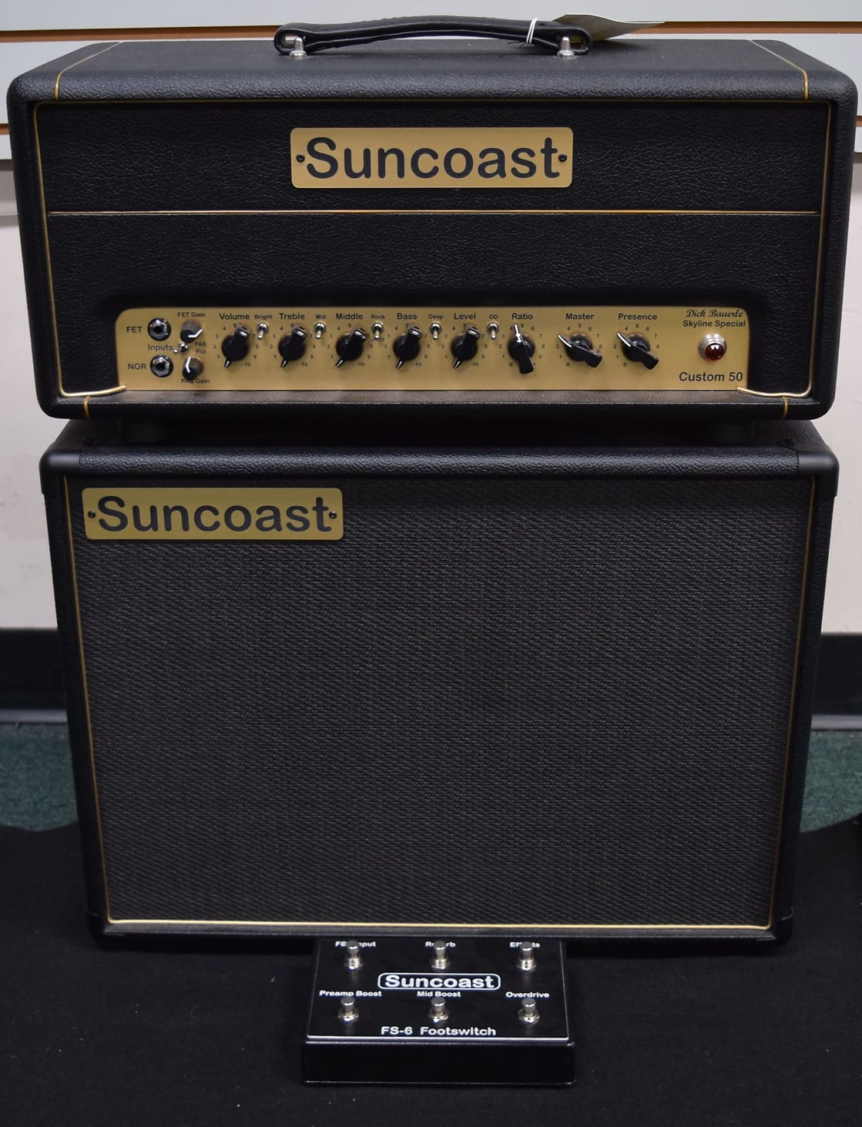 "Suncoast Dick Baurele Skyline Special 50 Head and D112 Cab *Awesome ""Dumble"" Front End and Tone!"