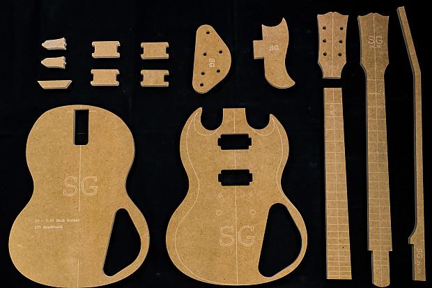 Guitar Templates Sg 12 Mdf Cnc Router Set W Reverb