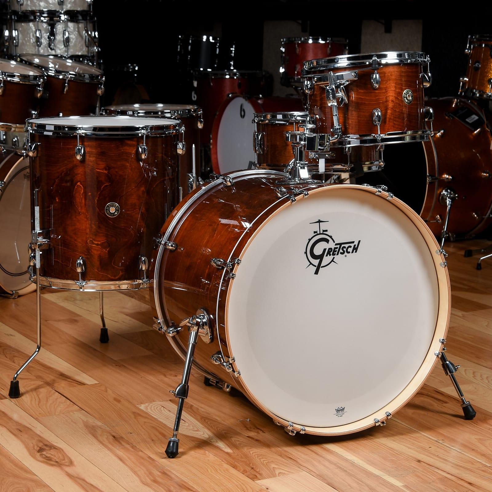 gretsch catalina maple rock 12 16 22 6x14 4pc drum kit walnut glaze. Black Bedroom Furniture Sets. Home Design Ideas
