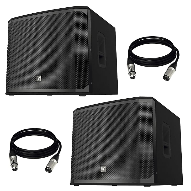 2 electro voice ekx 18sp 18 powered subwoofer and reverb. Black Bedroom Furniture Sets. Home Design Ideas