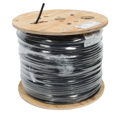 West Penn 4246F CAT6 STP Shielded 4 Pair CMR Rated Black, 1000'